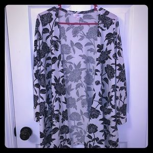 LuLaRoe Caroline Floral Open Faced Cardigan
